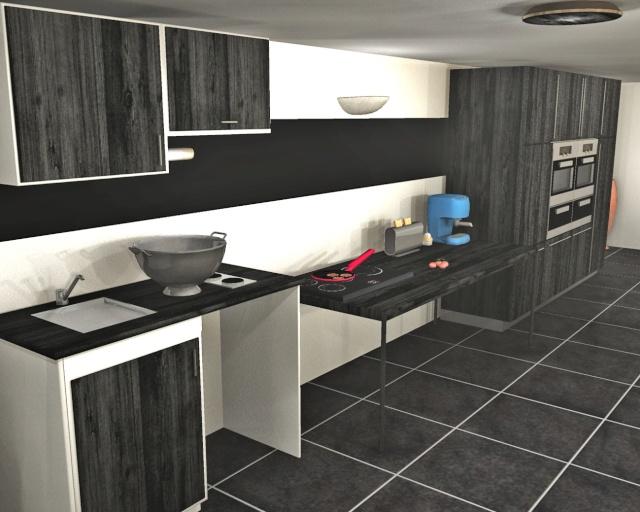 Cuisine blanc sur mur gris avec des id es int ressantes pour la conception de la for Cuisine blanc mur gris fonce
