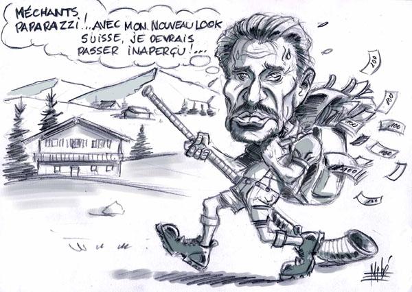 Souvent JOHNNY dessins et caricatures UA35