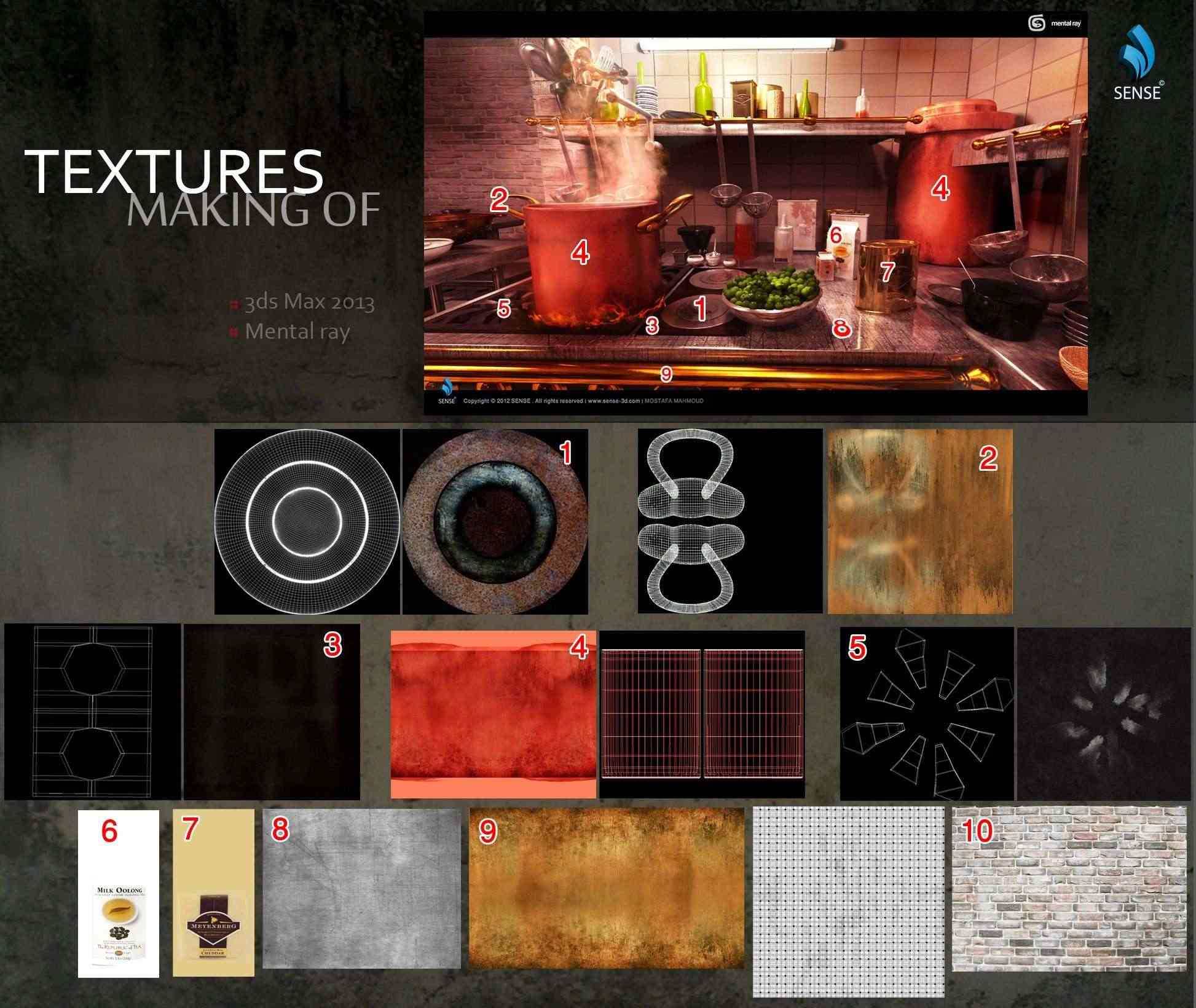 Ratatouille Kitchen Lighting Textures