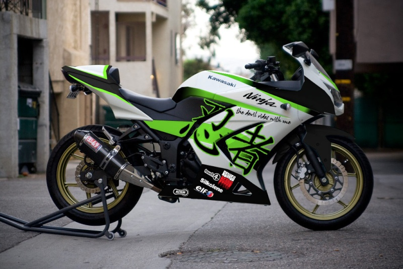 Ninja 250R Sticker Design