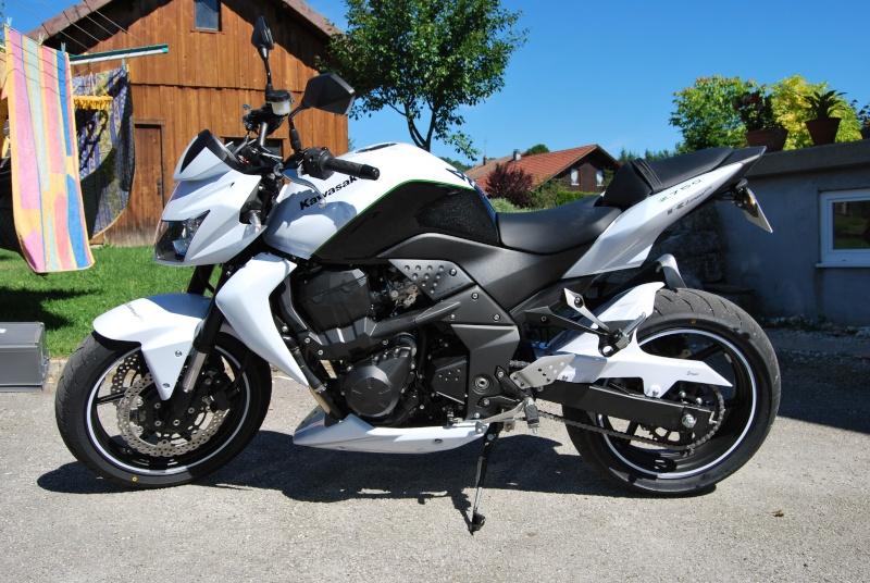 Kawasaki Z750 blanche 2010 5000km occasion moto 90 Territoire-de ...