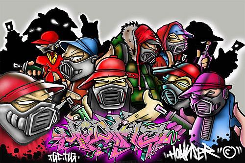 Graffiti scena