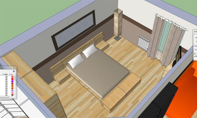 beautiful nb juai enfin russi mettre le soleil on a enfin une ide des couleurs avec clairage. Black Bedroom Furniture Sets. Home Design Ideas
