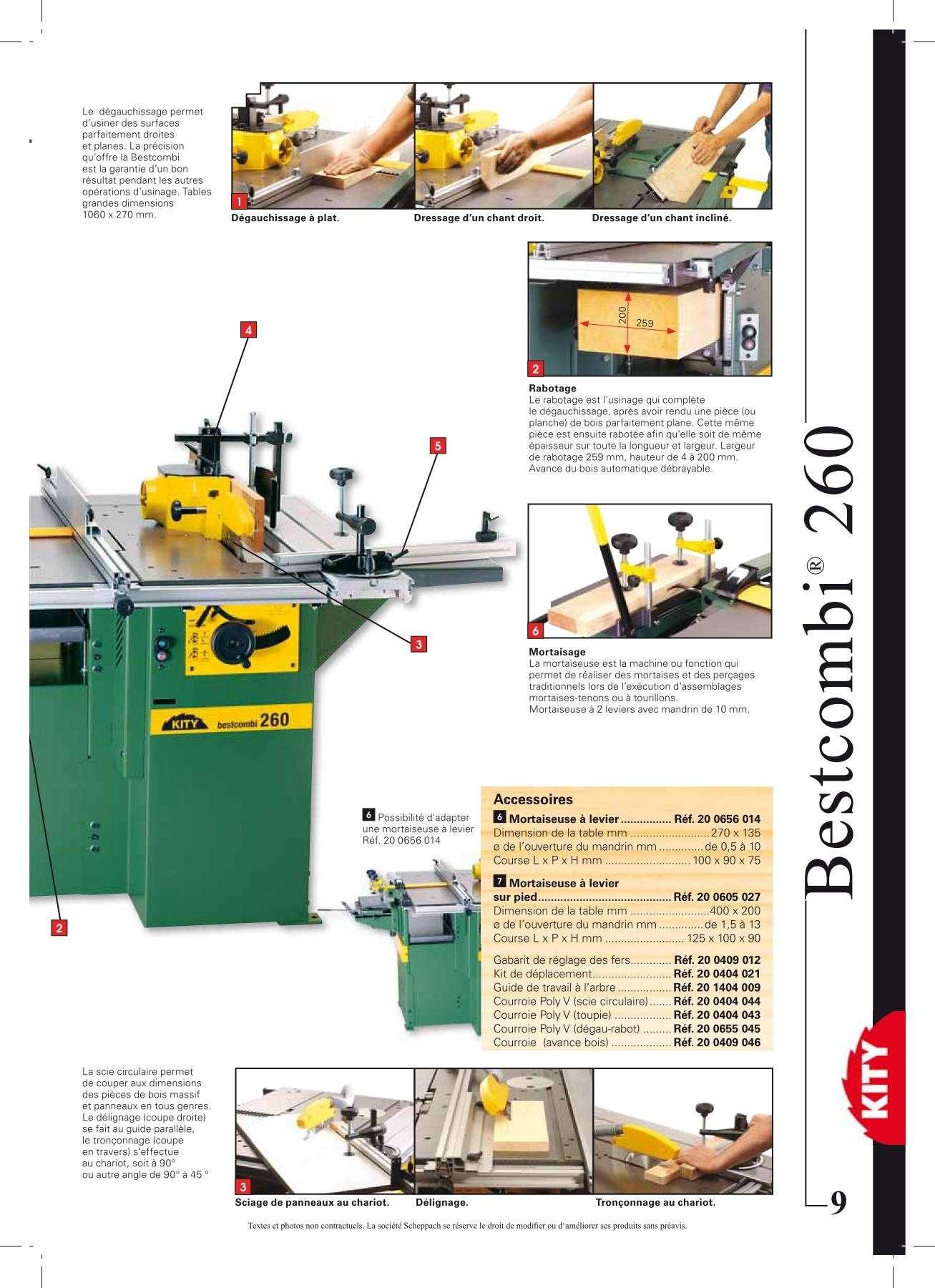 Kity bestcombi 2000 260 - Machine a bois kity ...