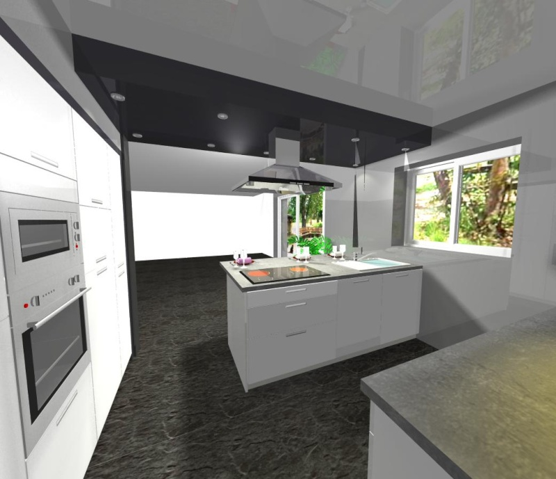 Besoin d 39 aide pour la couleur des murs de notre futur maison for Plafond de cuisine gris