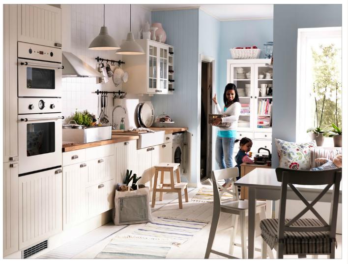 cuisine blanc cass ikea cuisine ikea blanche sans poignee ides design intrieur moderne - Cuisine Style Campagne Ikea