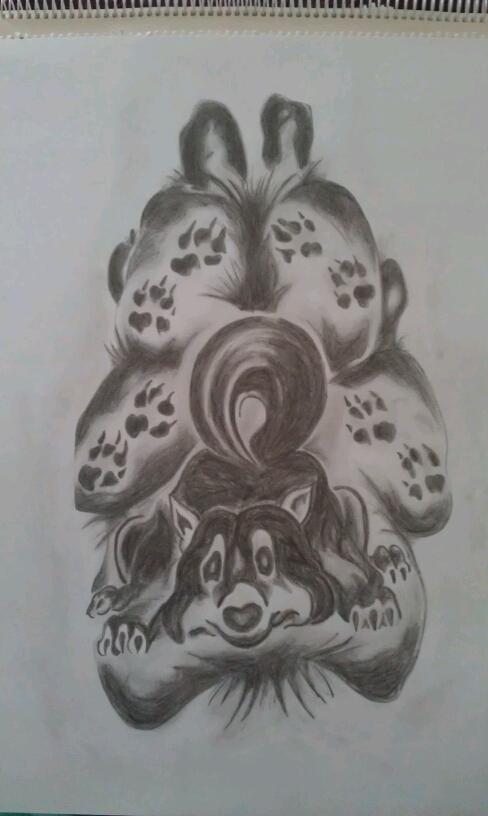 Hundepfoten Tattoo LiLzeu DE