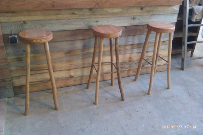 Fabrication Tabouret De Bar En Bois
