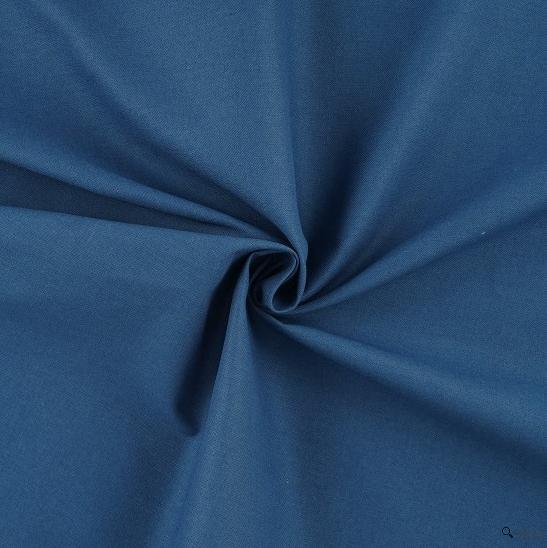 tissu coton bleu nouvelle couleur