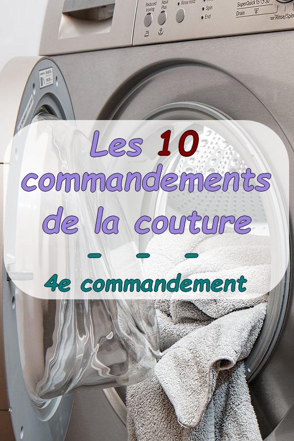 épingle pinterest présentation 4e commandement de couture lavage