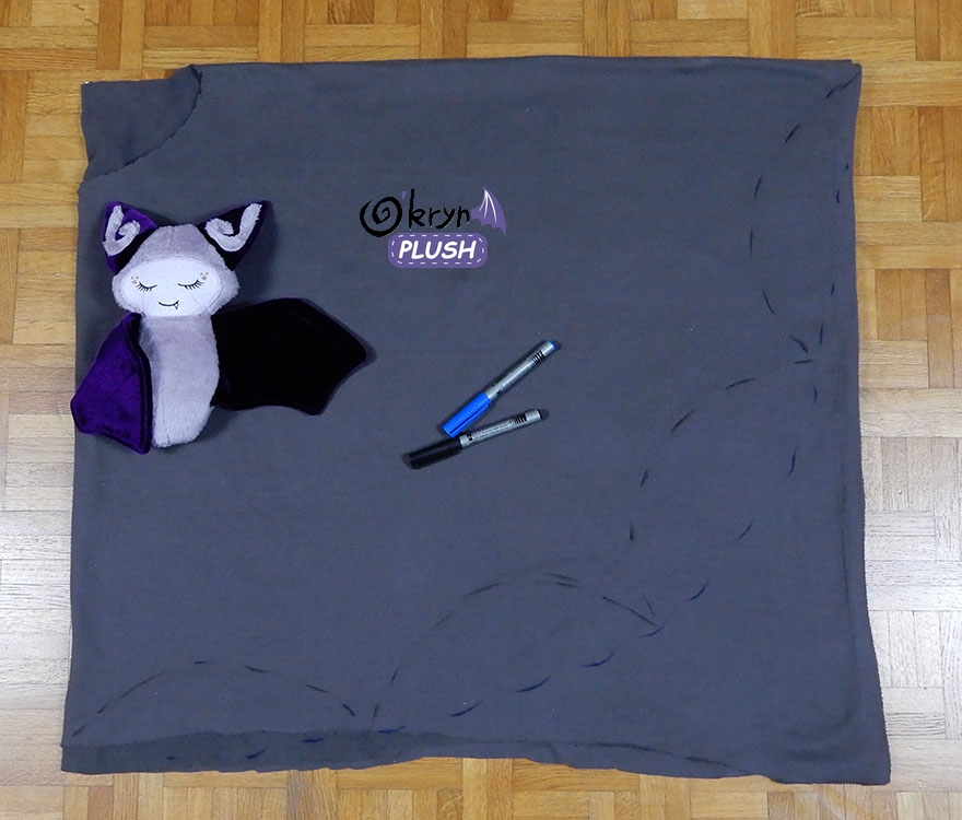 tutoriel bat poncho - o'kryn plush