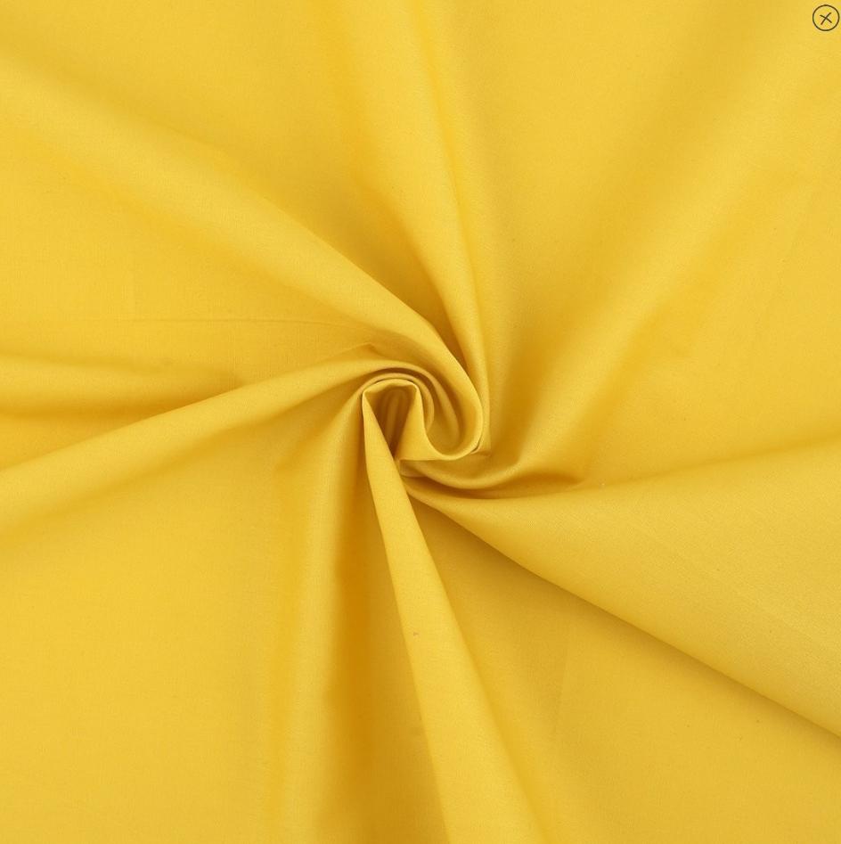 tissu popeline jaune soleil