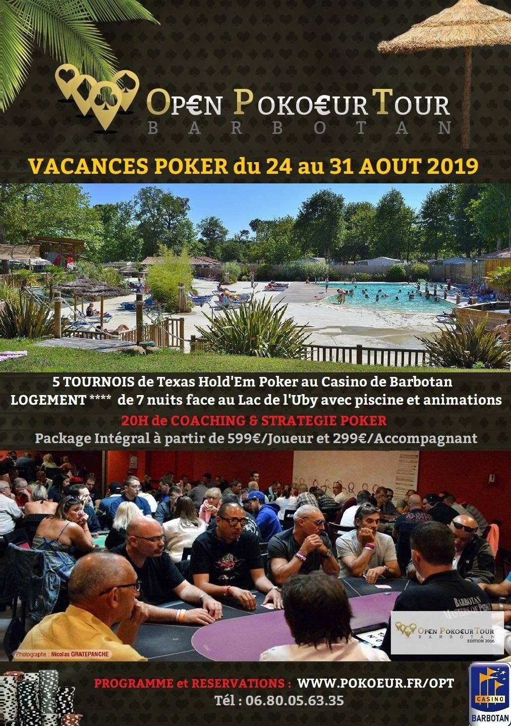 Vacances poker 2019 schedule
